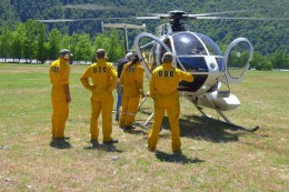 Doc fire team at Cameron Flat.