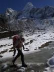 Negotiating the frozen dammed creek