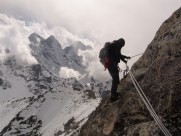 Brendan on the descent to Camp 1 - Amadablam