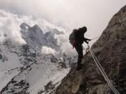 Brendan on the descent to Camp 1 - Amadablam