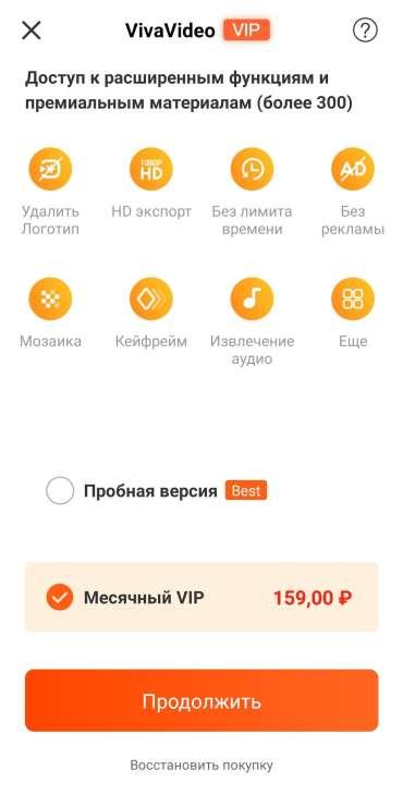 Скриншот премиум версии VivaVideo