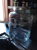 I got this lovely pitcher out of the alley. Why would someone throw it away? Because the tap leaks, that's why. Sigh. RECYCLE.