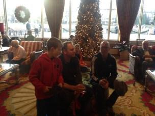 Super Christmassy lobby