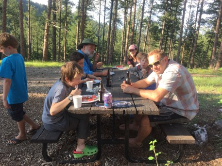 A big meal before another exploratory hike