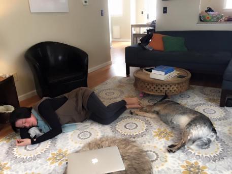 Resting on MPT's floor