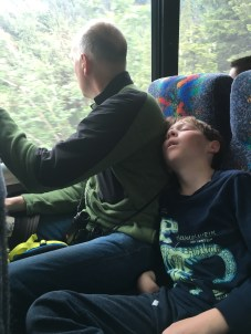Conked out on the ride to Mendenhall