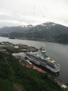 Juneau harbor and our ship