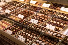 A chocolate shop so fancy you had to be buzzed in