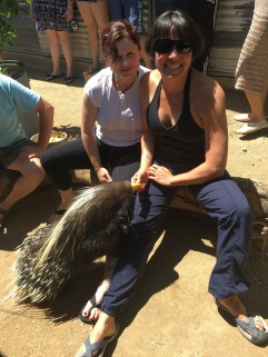 Me and Sonya and a porcupine