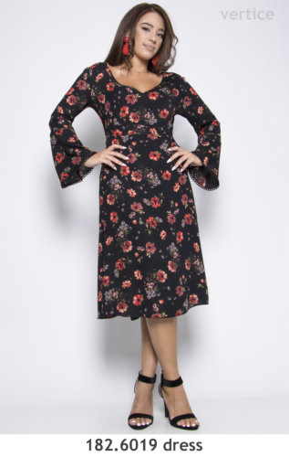 Mini Floral Dress Plus Size