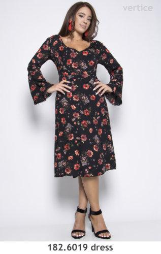 Mini Floral Dress Plus Size