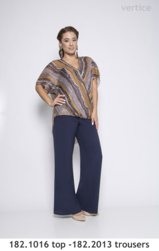 Plus size tops trousers