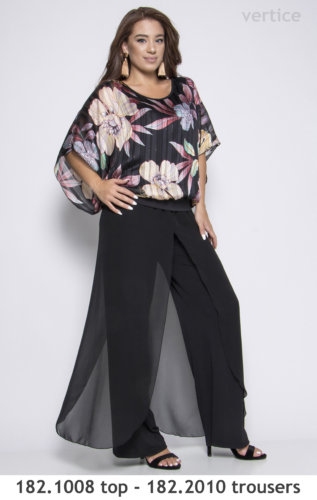 plus size trousers and top