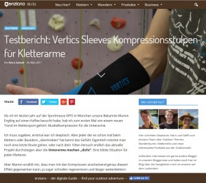 VERTICS Sleeves Test bei Enziano