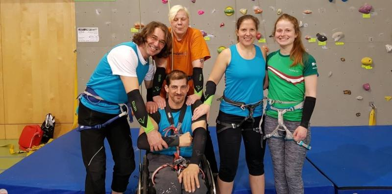 Paraclimbing Team Österreich mit VERTICS