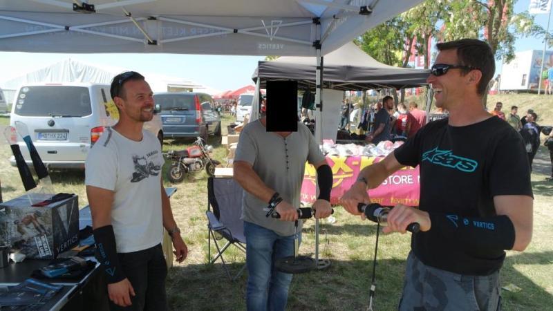 VERTICS.Sleeves gegen Armpump im Motocross