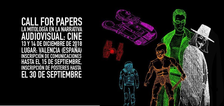 Imagen publicitaria call for papers Congreso la Mitología en la Narrativa Audiovisual: Cine