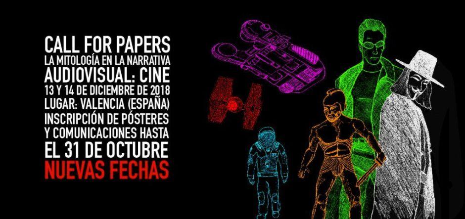 Cartel del ongreso La Mitologiá en la Narrativa Audiovisual