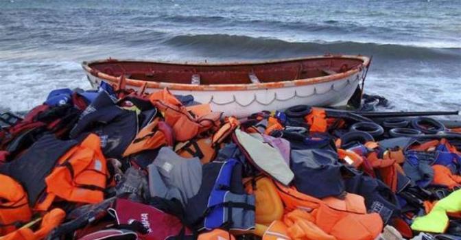 Imagen del holocausto en el Mar Mediterráneo
