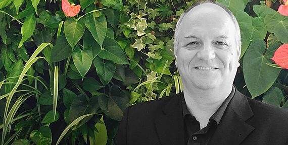 Der CEO und Mitbegründer von Vertical Magic Garden Harald Eichhorn