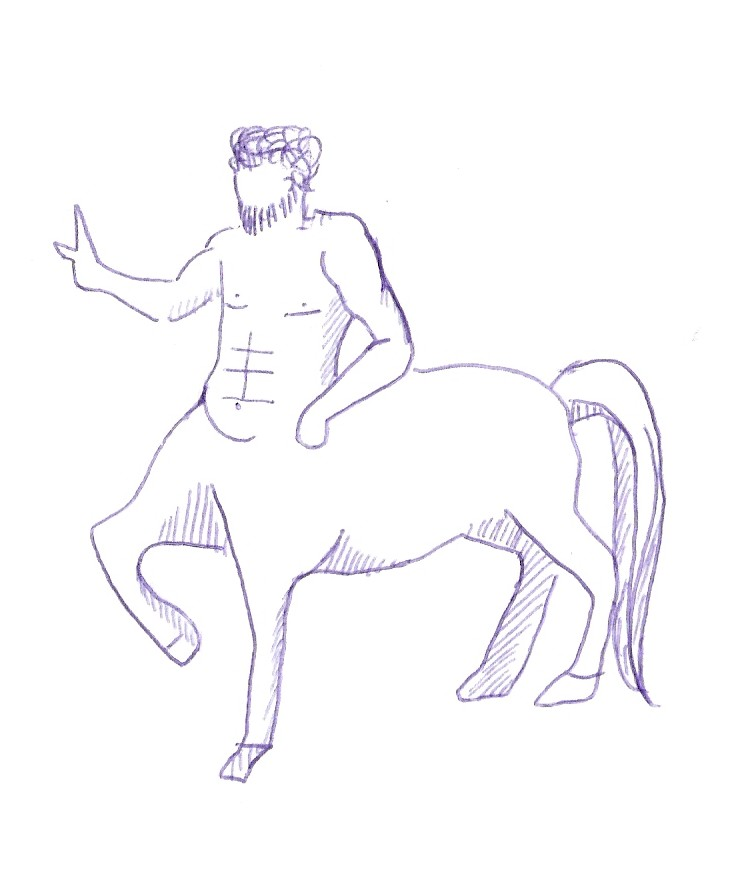 Créature Mi Homme Mi Cheval : créature, homme, cheval, Centaure, Monde, Fantastique, Vertjean