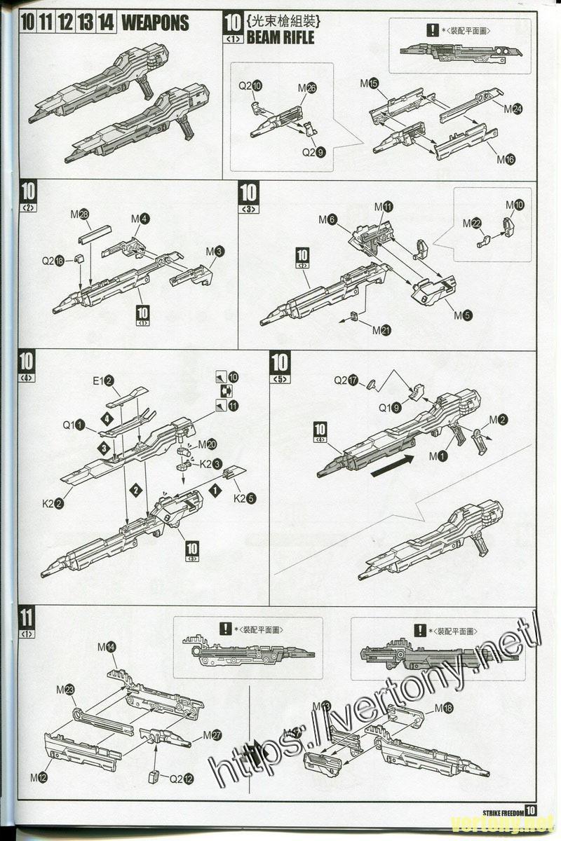 [開箱]龍桃子 MG 1/100 鋼彈SEED-D ZGMF-X20A 攻擊自由鋼彈 合金骨架光翼砲火版/DM