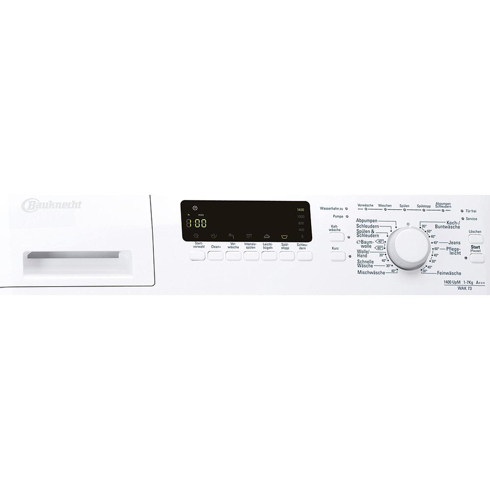 Bauknecht Wak 73 Waschmaschine 7 Kg A+++ Frontlader 1400 U/Min