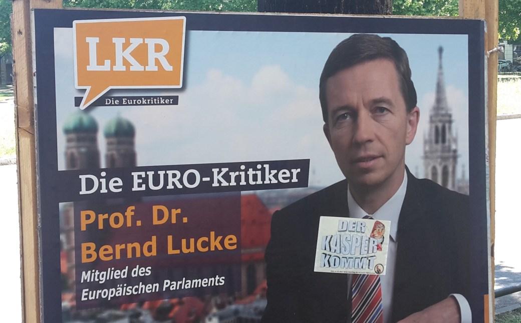 Bernd Lucke - Der Kasper kommt Auffkleber