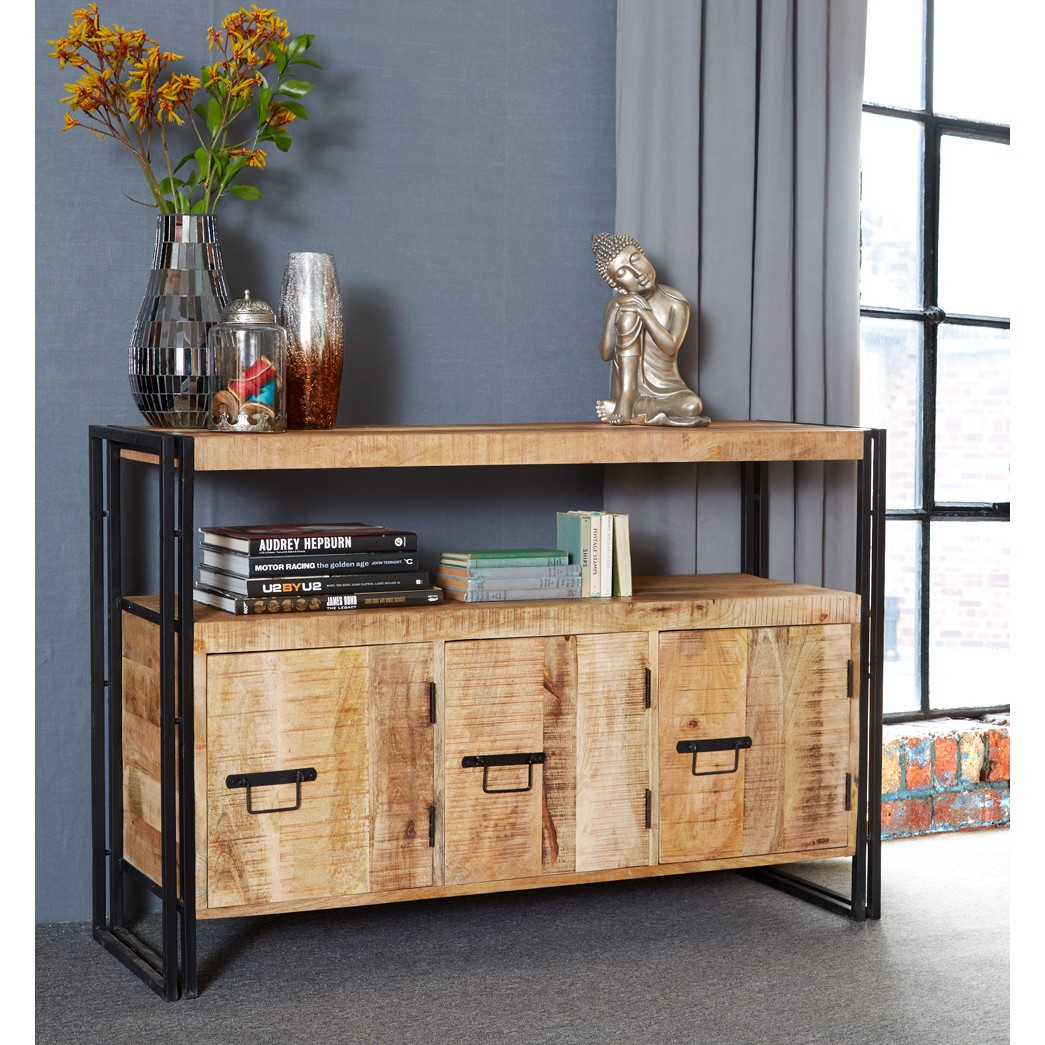 Upcycled Industrial Mintis Sideboard with 3 Doors