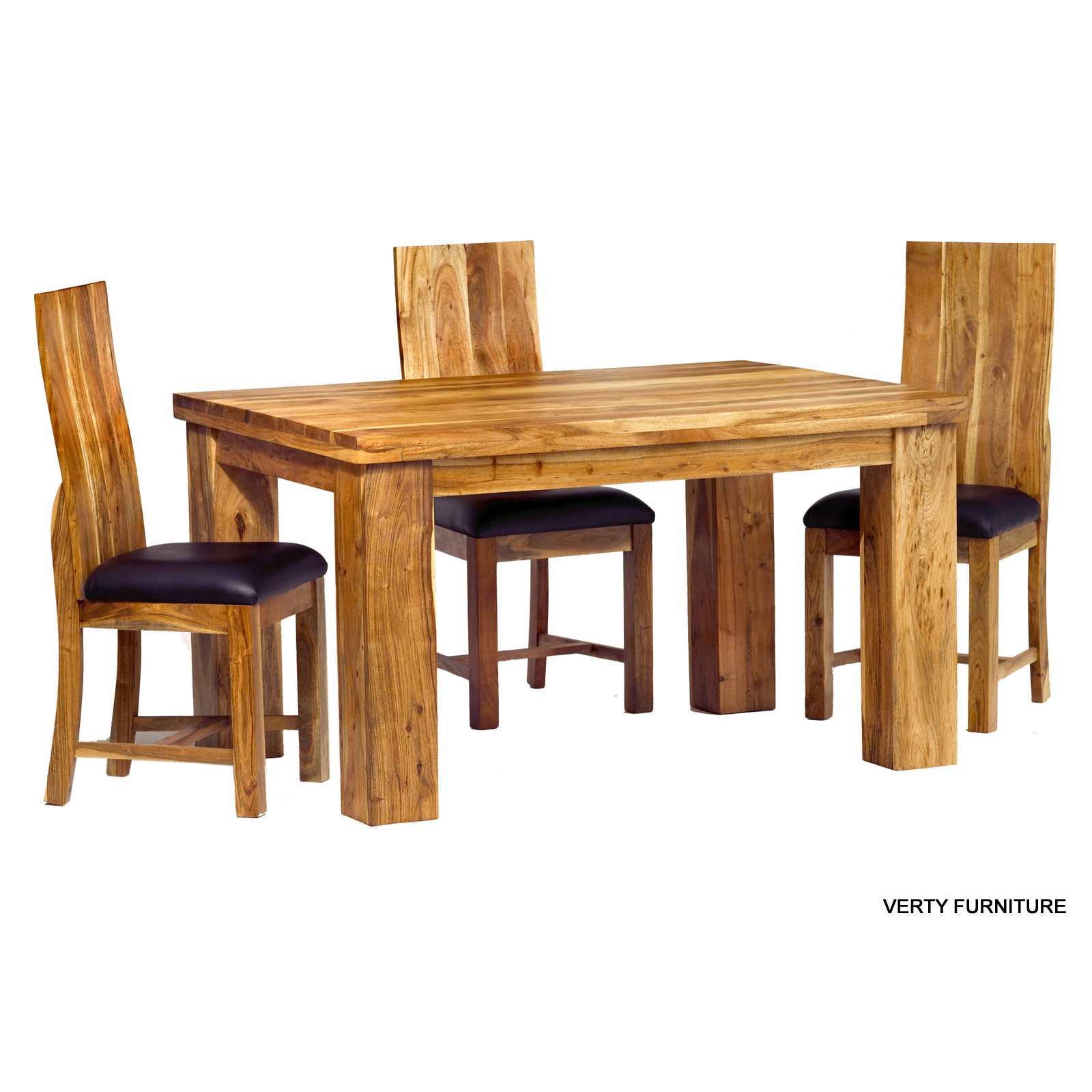 compact dining table and chairs adirondack chair original design acacia small with 4 verty indian