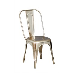 Steel Chair Buyers In India Movie Room Chairs Urban Industrial Round Dining Table With Metal Grey