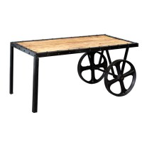 Upcycled Industrial Vintage Mintis Cart Coffee Table