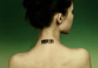 Barcode on Neck