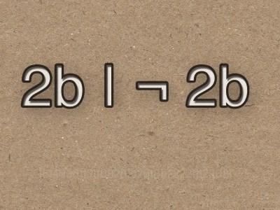 2b | ¬ 2b