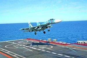 посадка Су-33 на палубу