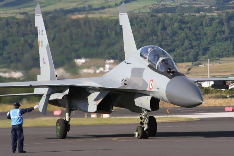 Истребители Су-30МКИ российского производства стоят на вооружении ВВС Индии