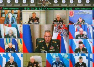 С.Шойгу провел селекторное совещание с руководящим составом ВС РФ
