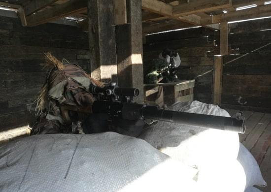 Снайперы мотострелкового соединения Восточного военного округа