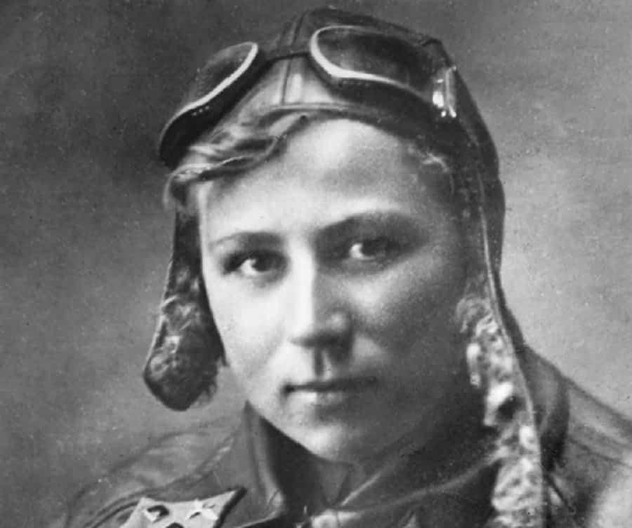 Фотография лётчицы Е.И. Зеленко