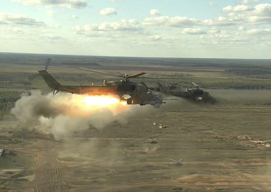 отработана «вертолетная карусель» и прикрытие подразделений сухопутных войск