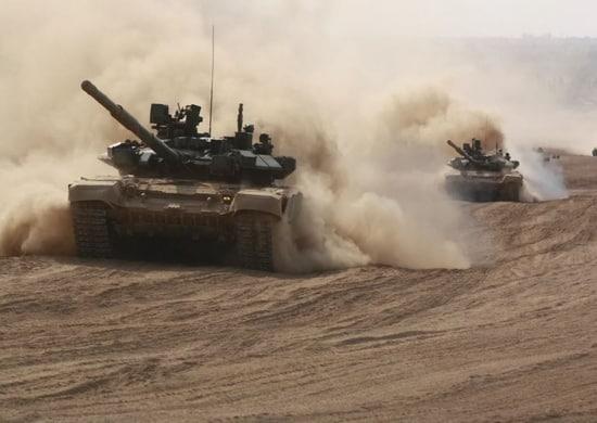 танки, оборудованные противоминными тралами