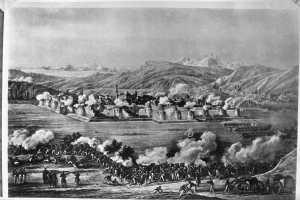 Гравюра Взятие Ереванской крепости