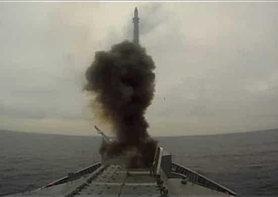 корвет «Громкий» произвел ракетную стрельбу