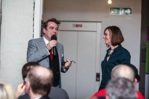 Vervate: Brighton and Hove Chamber of Commerce Spotlight Supper at Silo Restaurant, Brighton. With Gresham Blake being interviewed by Miranda Birch.