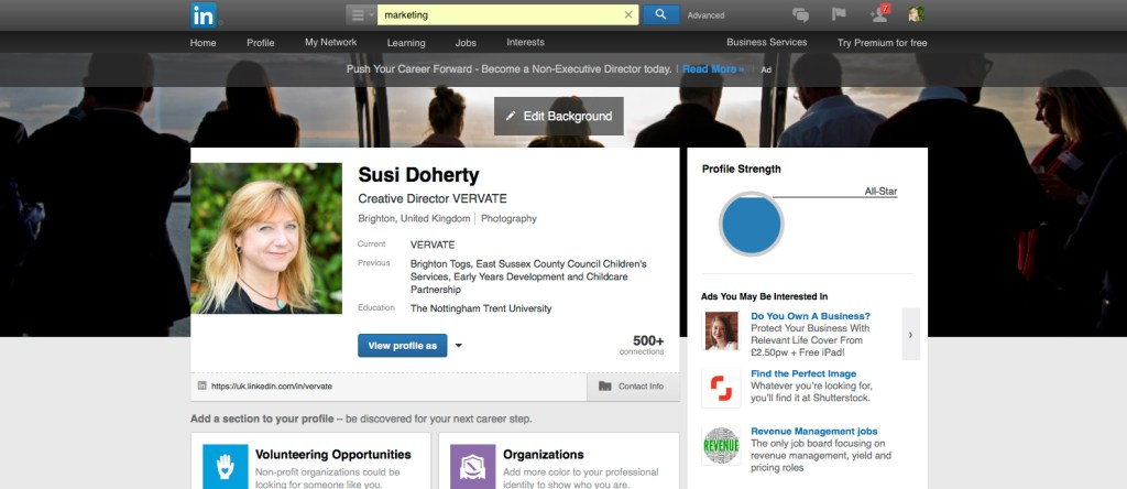 Linkedin Background images screenshot