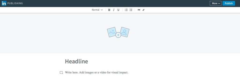 screenshot of linkedin post page