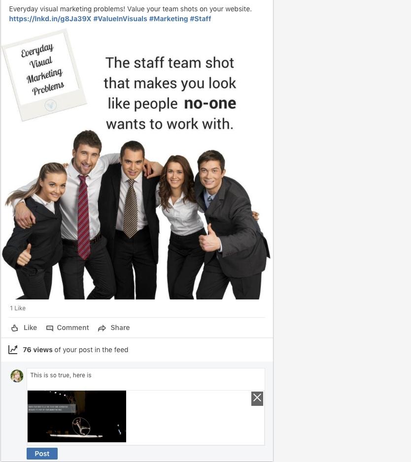 screenshot of linkedin comments