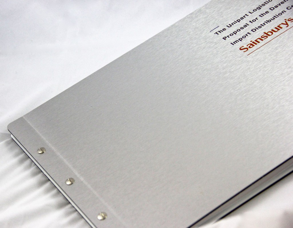 Sainsbury's proposal document - metal bound