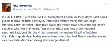 Facebook post Christchurch earthquake