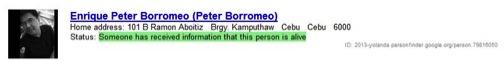 google personfinder peter borromeo